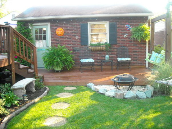 beach themed deck, 2 level deck that is attcahed to the garage. We love the beach so we tried to carry that theme throughout., Patios & Decks Design