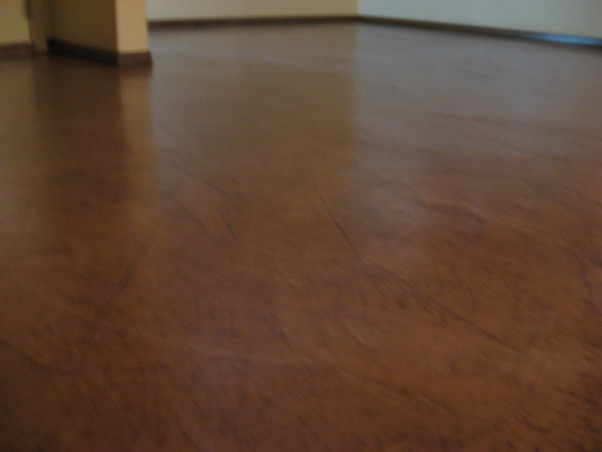 Brown bag floor, Can't afford wood floors so I decided to do brown bag floors in my house. , baseboards back on and 3 more days til I can move furniture back in and start the other half!   , Other Spaces Design