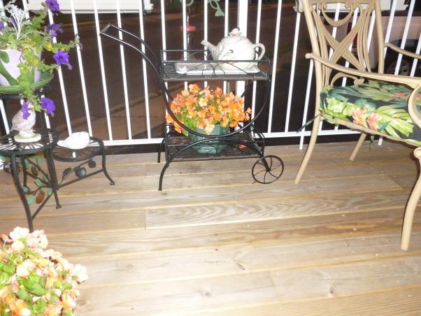 My summer gardens, My summer joy , Our Tea Deck where we have tea nightly weather permitting., Gardens Design