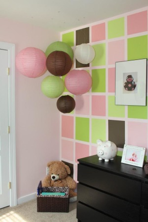 Pink & Green Paradise for Pint-Sized Princess, We wanted a room that was still very girly for our little girl, but also a little more fun for a growing toddler (who happens to love the color green). , The room is a fun, colorful, girl place., Nurseries Design