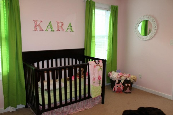 Pink & Green Paradise for Pint-Sized Princess, We wanted a room that was still very girly for our little girl, but also a little more fun for a growing toddler (who happens to love the color green). , Nurseries Design
