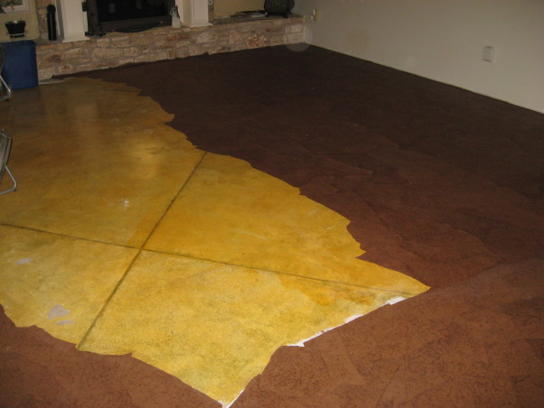 Brown bag floor, Can't afford wood floors so I decided to do brown bag floors in my house. , half done with floor  , Other Spaces Design