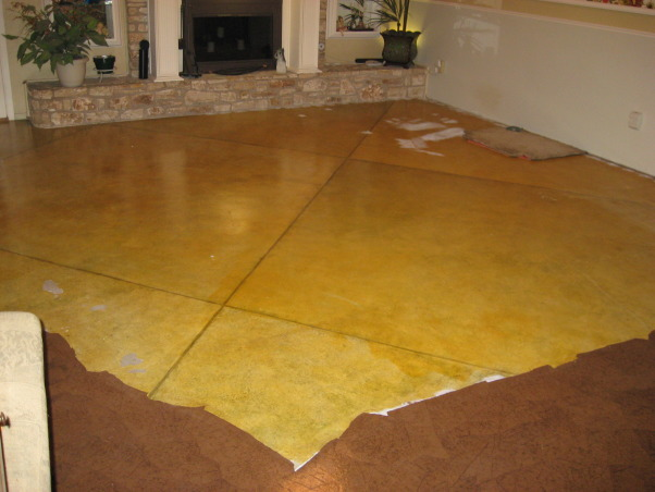 Brown Bag (builder's paper)Floor, Previously painted living room and dining room floor getting a makeover, living room floor before     , Dining Rooms Design