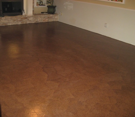 Brown Bag (builder's paper)Floor, Previously painted living room and dining room floor getting a makeover, one side of living room    , Dining Rooms Design