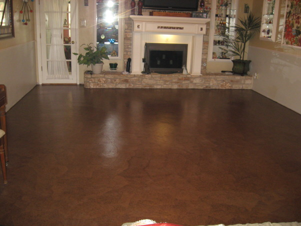 Brown Bag (builder's paper)Floor, Previously painted living room and dining room floor getting a makeover, living room section done....a couple more coats of poly to go.    , Dining Rooms Design