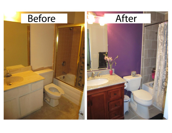 New Girl's Bathroom!, Here is a look at the before and after transformation of my daughter's bathroom. We gutted the entire thing and started from scratch. The original bathroom was straight from 1981., Before/After photo of my daughter's bathroom, gutted and started from scratch. Before:Straight from 1981. After, beautifully renovated in 2012!  , Bathrooms Design