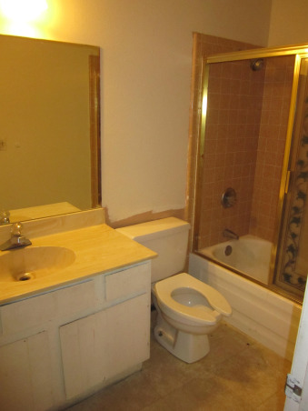 New Girl's Bathroom!, Here is a look at the before and after transformation of my daughter's bathroom. We gutted the entire thing and started from scratch. The original bathroom was straight from 1981., Before the major renovation, Bathrooms Design