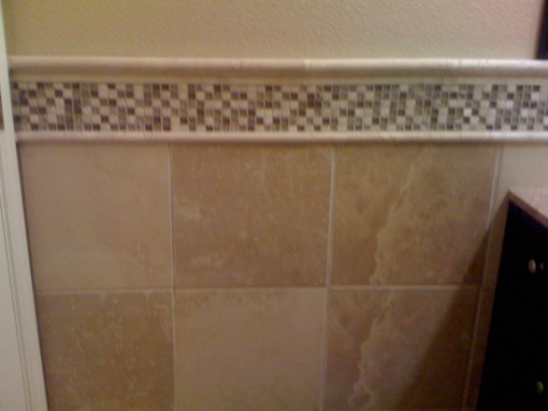 Ella's New Main Bathroom, The main bathroom, Tile work behind bathroom door, Bathrooms Design