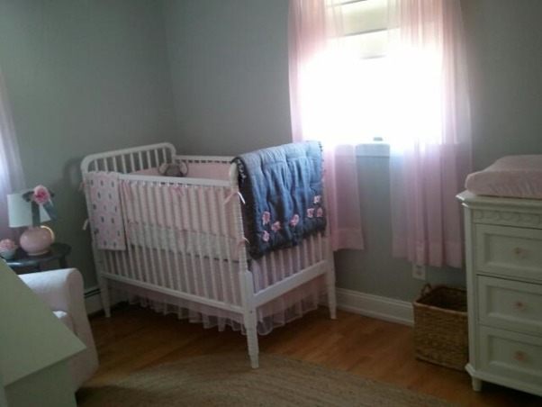 pink and grey nursery, This is my baby girl's tiny nursery.  This room was difficult to work with because of such limited space, but I think i made it work! I'm happy with the results, and really enjoy spending time here. This is one of my favorite color schemes:) , Nurseries Design