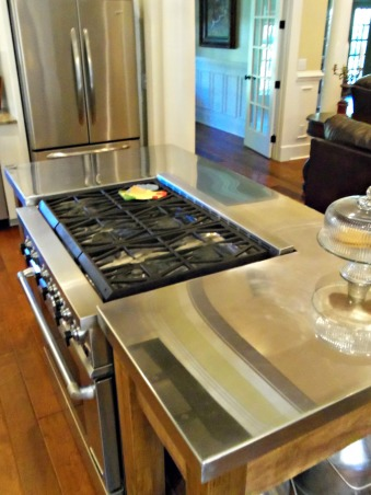 our new kitchen, We used stainless steel on the top of the new island since our stove is in the island., Kitchens Design