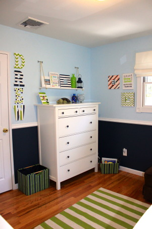 Nautical surfer room, I re-did my sons room to better fit his personality. My goal was to re-purpose as much as possible and spend as little money as possible. I wanted a theme, but not theme overload. I think my end result is a nice balance and we love it., Boys' Rooms Design