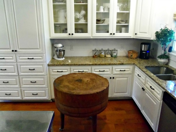 our new kitchen, Another view of my antique chop block. , Kitchens Design
