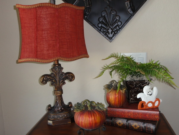 """FALLOWEEN"" !, Had some fun decorating for fall and Halloween. More rooms to come!, Some fall/halloween decor in our foyer :) , Dining Rooms Design"