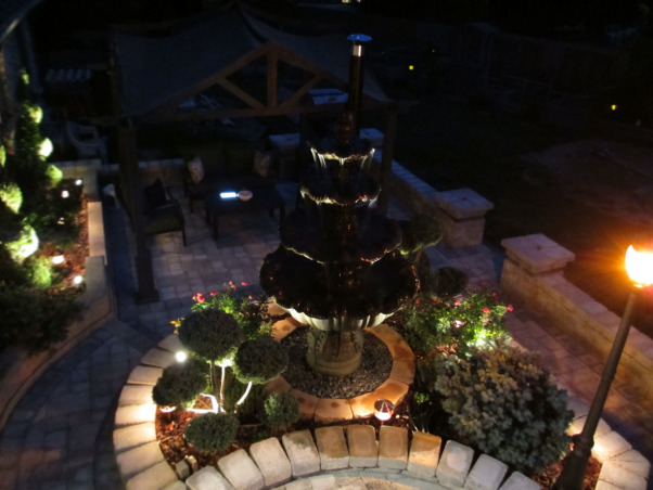 Paradise Patio, Outdoor living spaces, This fountain marks our 15 year wedding anniversary!, Patios & Decks Design
