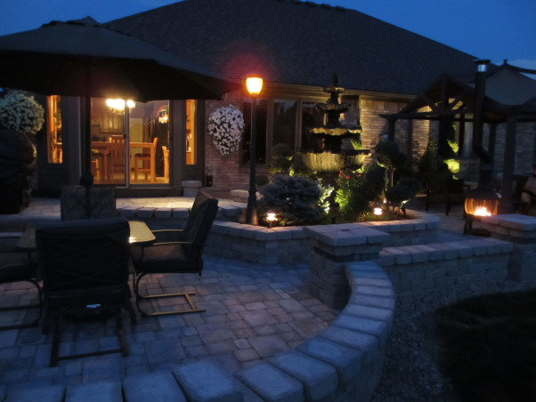 Paradise Patio, Outdoor living spaces, There are 3 separate areas and 2 joining paths, Patios & Decks Design