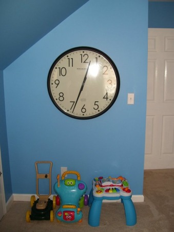 Dr. Seuss Inspired Playroom!, We created a bold, fun, Dr. Seuss inspired playroom for our son. We used bright colors, stripes and brought in all of his favorite Seuss characters. We painted the entire back wall with chalkboard paint, and a made a big storage unit and fun little reading nook!, Other Spaces Design