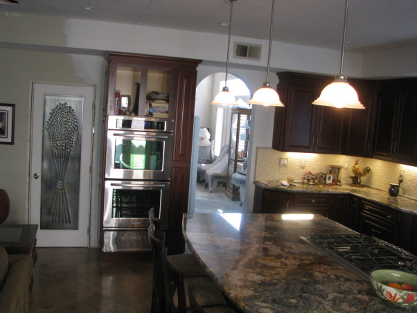 Pantry door, Remodeled the kitchen and also changed out the pantry door, New pantry glass door , Kitchens Design