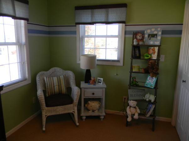 Mercer's Inherited Nursery, This is the nursery that Mercer inherited from his big brother.  We updated the decor a bit and added some new projects., Bookcase from Wisteria, table by Mercer's dad, Nurseries Design
