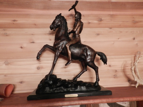 "Tom's Western Home Office, This was a basement space I used to create my husband a Western Home Office for his Farrier business., ""Scout"" Frederic Remington sculpture, Basements Design"