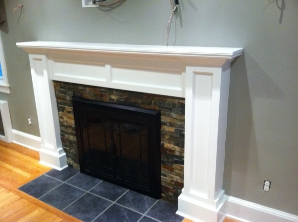 Fireplace makeover, My fireplace mantel surround was ugly so I decide it was time to build my own to give my newengland home it's Charm back!, Living Rooms Design