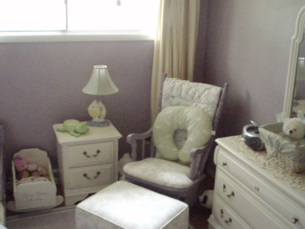 Tiny Toddler Transformation, This room was put together over the course of a year and with a very small budget (less than $800 total).  Every inch of the room was painted during my pregnancy with my third child.  The furniture was reused from our son's nursery, Craigslisted, or diy-ed.  If there was anything that could be reused, refashioned, re-imagined, it was. This tiny 8.5' x 11' was a labor of love.  Our daughter enjoys her room very much and most things are just her size.  You can see more of this transformation at the blog, DecorumDIYer.wordpress.com  : http://wp.me/p12yAb-wO , The glider, free via Craigslist and refurbished simply, has found a home in this tiny toddler room.  Perfect spot for snuggling and bedtime stories.  http://wp.me/p12yAb-wO          , Girls' Rooms            Design