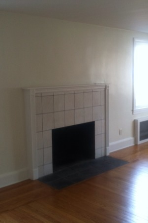 Fireplace makeover, My fireplace mantel surround was ugly so I decide it was time to build my own to give my newengland home it's Charm back!, When I Started., Living Rooms Design