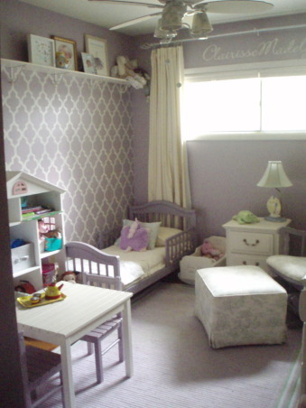 Tiny Toddler Transformation, This room was put together over the course of a year and with a very small budget (less than $800 total).  Every inch of the room was painted during my pregnancy with my third child.  The furniture was reused from our son's nursery, Craigslisted, or diy-ed.  If there was anything that could be reused, refashioned, re-imagined, it was. This tiny 8.5' x 11' was a labor of love.  Our daughter enjoys her room very much and most things are just her size.  You can see more of this transformation at the blog, DecorumDIYer.wordpress.com  : http://wp.me/p12yAb-wO , Our once laundry room was returned to our home's fourth bedroom for our little girl.  The room's furnishings are  scaled appropriately for her and her toddler activities.  http://wp.me/p12yAb-wO           , Girls' Rooms            Design