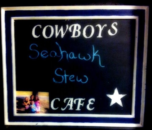 Dallas Cowboys Room, Turned the projection room into a dallas cowboys room. Still need to replace the couch and end table and add some more decor but so far I am enjoying it., A close up of the cowboys cafe board I made using chalkboard paint!, Media Rooms Design