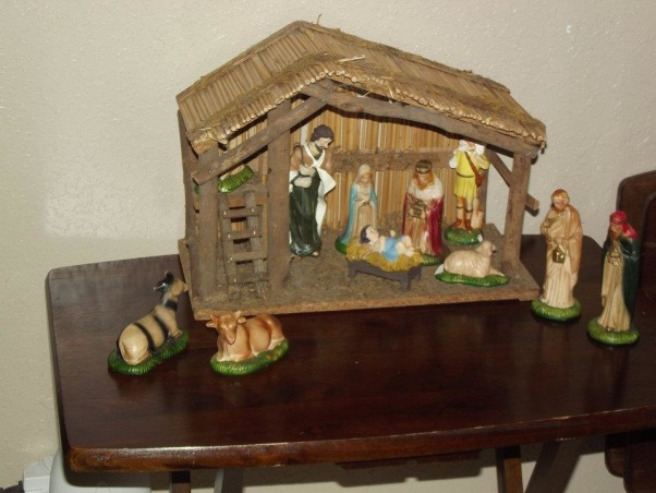 It's beginning to look alot like Christmas 2012, The reason for the season. My grandmother's nativity scene , Holidays Design