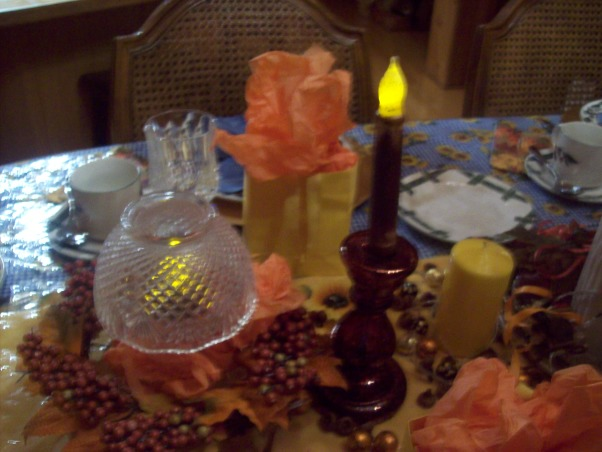 Fall Tablescape, Put together a tablescape with things I had around the house for a fall dinner with friends., Dining Rooms Design