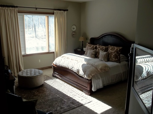 Master Bed and Bath, Rustic, Neutral Bed and Bath, Typical size master bedroom, continuing with neutral theme., Bedrooms Design
