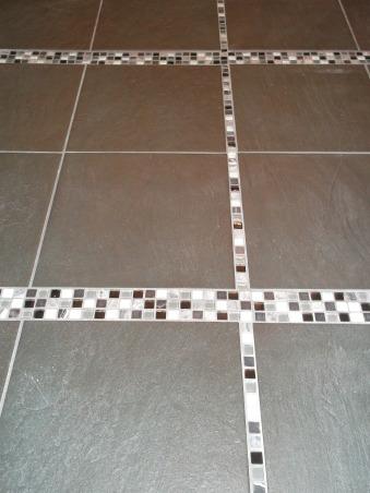 Master Bathroom, 10 week renovation of our Masterbath., Close up of Tile Floor Design , Bathrooms Design