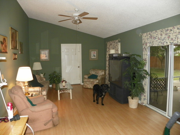 Help!! Need ideas for this space, limited budget, must work with what is here, This is a living room in my mother in laws house. She wont allow us to get rid of anything, but the layout is not working well. Does anyone have ideas of how to fix this space up, clean it up, or lay it out better so we can better use this space. , Living Rooms Design
