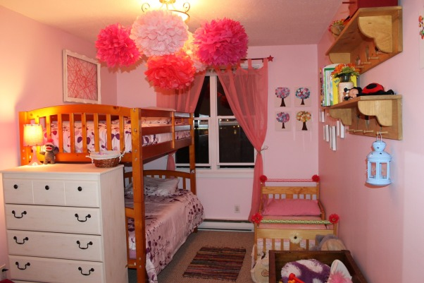Shared toddler room, This was my first diy makeover, it was on a shoestring budget. Our little girls share the room., We wanted a soft but beautiful look. , Girls' Rooms Design