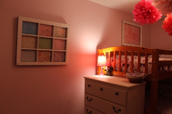 Shared toddler room, This was my first diy makeover, it was on a shoestring budget. Our little girls share the room., The dresser had to be placed here bc my 3 yr old kept climbing the back of the bed. , Girls' Rooms Design