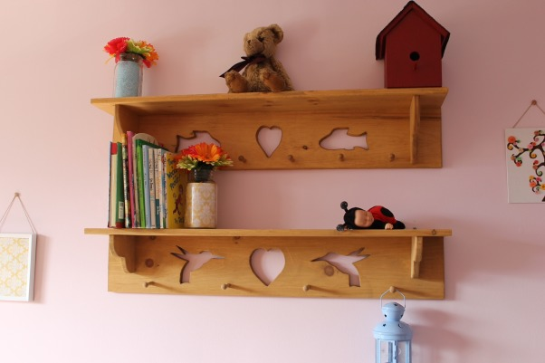 Shared toddler room, This was my first diy makeover, it was on a shoestring budget. Our little girls share the room., Handmade shelves , Girls' Rooms Design