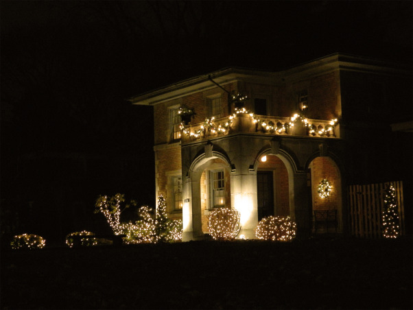 Christmas 2012, Christmas has arrived at our 1924 custom built, blonde brick, terracotta and copper roofed Italian villa-style home! Happy Holidays!, The front right view of the home's exterior.    , Holidays Design