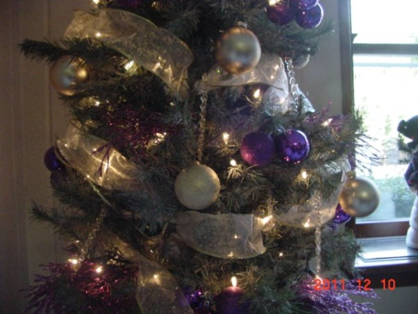 Chrismas Trees - Merry Christmas, HGTV Nation!, Chrismtas tree in different colors and different sizes. Classic to traditional., Frosted, purple, creme, white, and glass christmas tree., Holidays Design