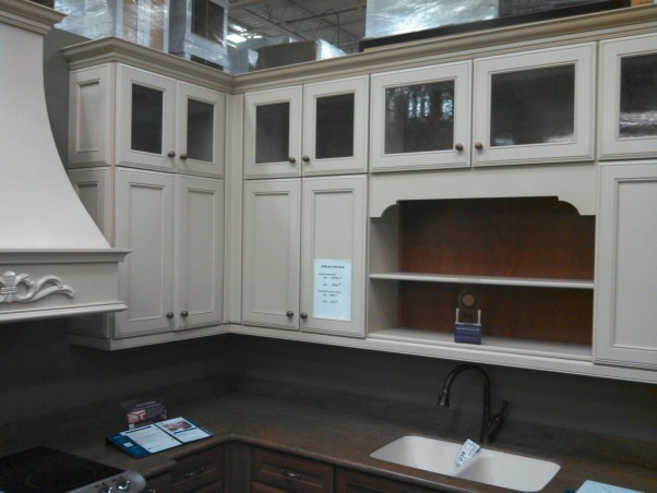 New Cabinets, finally!, Kraftmaid Hartwell Square Maple wall cabinets in Mushroom finish, with Cherry base cabinets in Rye finish., Kitchens Design