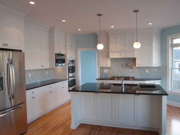 Jersey Shore Kitchen, Used a beach glass color scheme in the whole house for a soothing beach retreat., Wanted a clean and airy kitchen that reflected the use of beach glass colors throughout this shore house.  , Kitchens Design