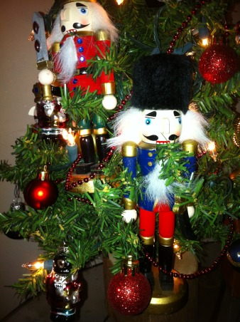 Christmas House, My house has several Christmas trees in all rooms dressed up in different themes. Some rooms have two or three trees.  It's so much fun decorating this house for Christmas., This tree is in my grandson's toy room.  He love nutcrackers.    , Holidays Design