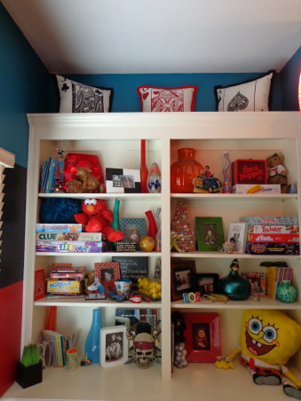 Kid Zone, This is a play room type area I've tried to brighten up with fun colors and my kids art work etc. (ya I know that this looks like a Target store with my colors but hey! who doesn't love Target??), Other Spaces  Design