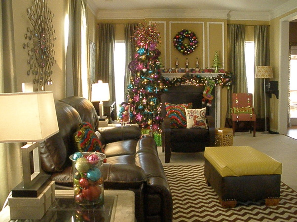 Christmas Brights, Great room Christmas tree, have 9 yr old daughter so try to make it bright!, Holidays Design