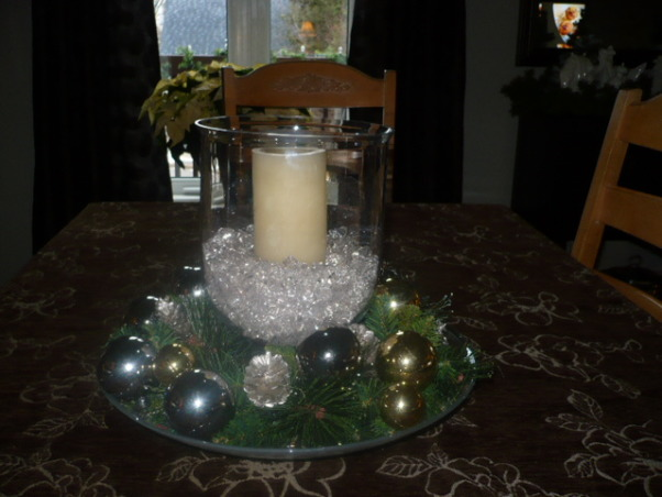 Christmas decorating completed., I love battery candles. , Holidays Design