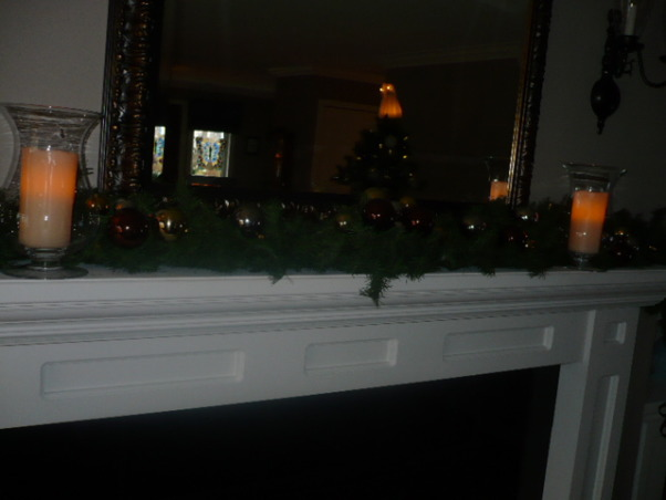Christmas decorating completed., I now have more room for boughs on my new mantle , Holidays Design