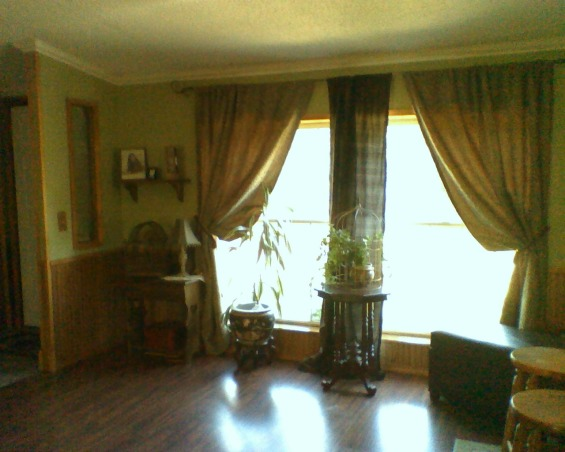 BAY WINDOW...... Finally!, I always wanted a bay window. So when we remodeled we put one in. I love it!, this is a before picture. There were two 46x60 windows. Let in more light but not very unique, Living Rooms Design