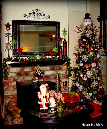 """All Hearts Come Home for Christmas"", Here is my Snowman Themed Christmas Tree  --- Gizelle, Los Angeles CA ), Living room, Holidays Design"