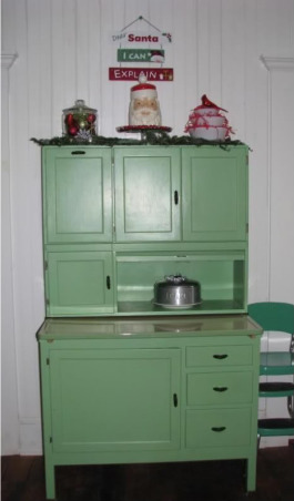Simple Cottage Christmas , A few pictures of our cottage this Christmas, inside and out. , One more pic of the kitchen, decorated hoosier. , Holidays Design