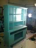 China Cabinet Refinished, making it modern , fresh paint  , Other Spaces Design