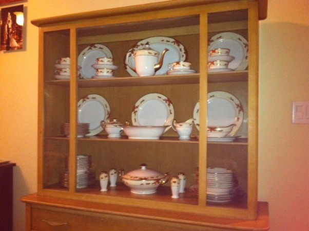China Cabinet Refinished, making it modern , before, i liked it but the color is very 90s....  , Other Spaces Design
